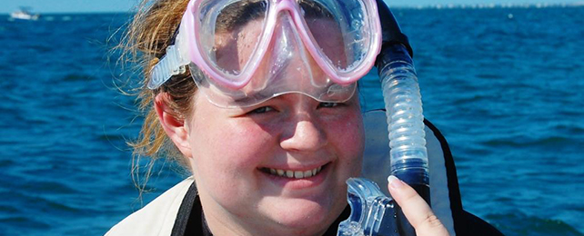 Marine  biology major Amanda Sylvester (class of   2012)