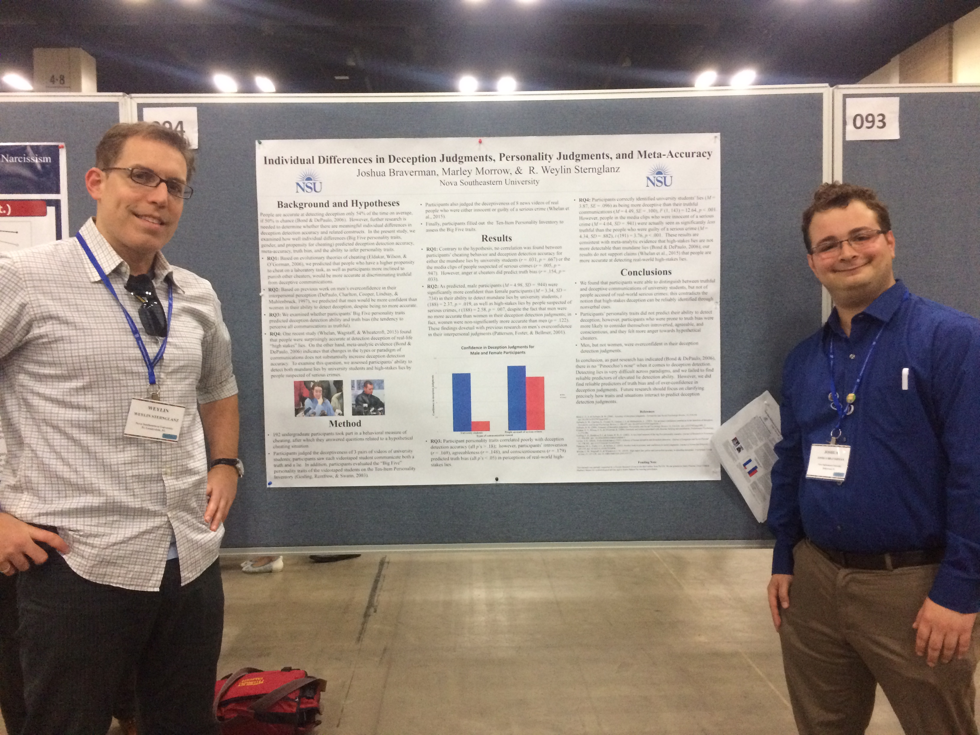 Student Joshua Braverman and Faculty Member Weylin Sternglanz